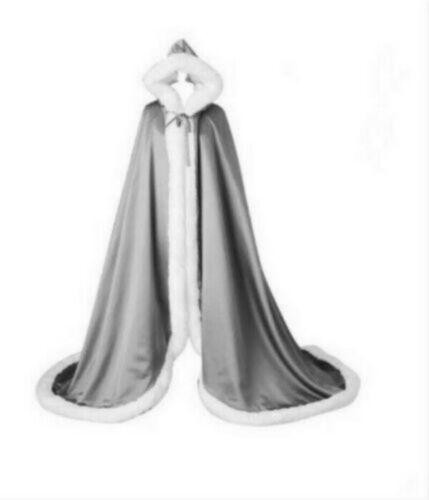 shawl Winter faux fur cape cloak wedding party hooded bridal jacket