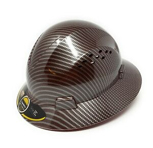 HDPE-Hydro-Dipped-Red-Silver-Full-Brim-Hard-Hat-with-Fas-trac-Suspension