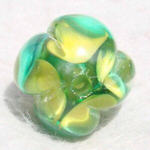 SHAMROCK-Handmade-Art-Glass-Focal-Bead-Flaming-Fools-Lampwork-Art-Glass-SRA