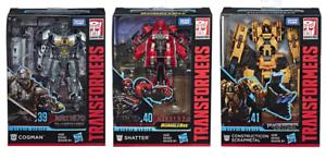 (InHand) Transformers Studio Serie SS39 Cogman SS40 Inastillable SS41 Scrapmetal Nuevo