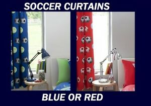 Image Is Loading BOYS SOCCER FOOTBALL CURTAINS IDEAL WITH QUILT DOONA