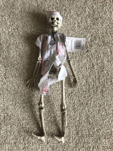 Halloween 42 cm Hanging Skeleton Nurse//Doctor Fantastic Fun Party Prop Decoratio