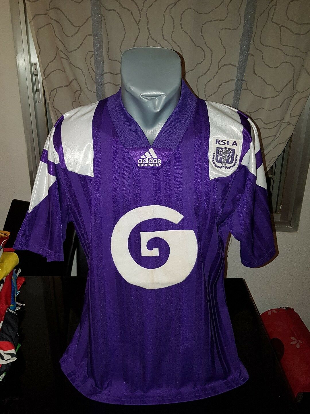 Tee shirt vintage museum 90's adidas r.s.c anderlecht Taille l