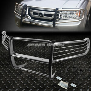 Bumper Guard For Suv >> Details About For 09 15 Honda Pilot Mr V Suv Chrome Stainless Steel Front Bumper Grill Guard