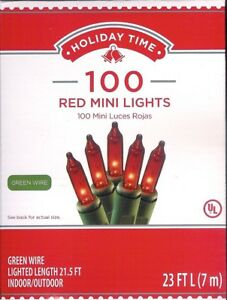 RED-GREEN-CLEAR-MINI-LIGHTS-100-CT-YOUR-CHOICE-VALENTINE-ST-PATRICK-DAY