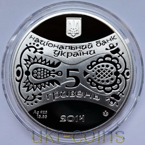 2014 Ukraine Chinese Lunar Year of the Horse 1//2 Oz Silver Proof Coin Gemstone