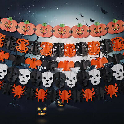 Spooky Halloween Party Haunted House Hanging Garland Pennant Banner Decor US KY