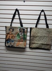 Details about Too Blessed To Be Stressed Tapestry Tote Bag Purse/African  American