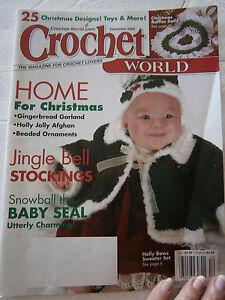December 2003 Crochet World Pattern Back Issue Magazine