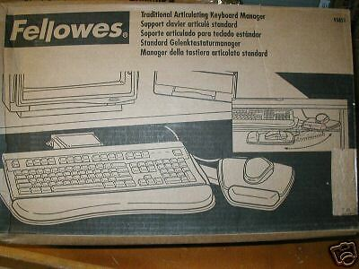 FELLOWES 93851 TRADITIONAL ARTICULATING KEYBOARD MANAGER