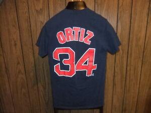 various colors d6031 c50a4 David Ortiz shirt jersey small Boston Red Sox Majestic blue ...