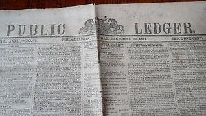 PUBLIC-LEDGER-NEWSPAPER-PHILADELPHIA-DEC-23-1851-KOSSUTH-in-US-HENRY-S-FOOTE