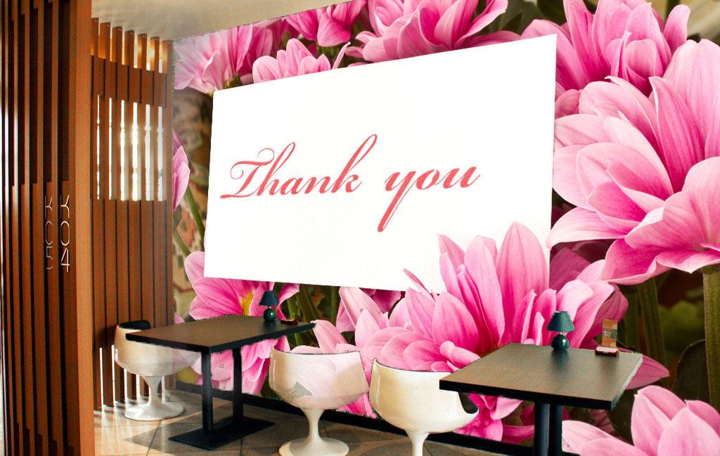 3D Thanksgiving - pink blüten Fototapeten Wandbild Fototapete BildTapete Familie