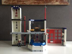Playmobil 4819 Feuerwehr Hauptquartier Mit Zubehör Gebraucht Ovp Ebay
