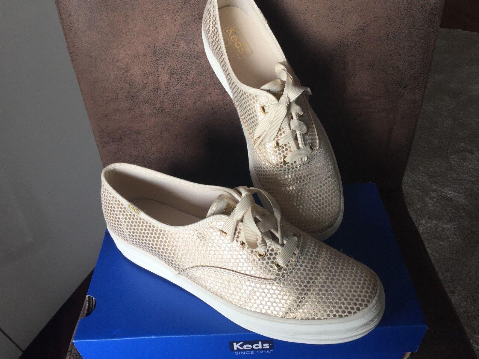 Keds neu Triple Shimmer goldene Sneakers neu Keds WF55760 Gr. 41 633cfc