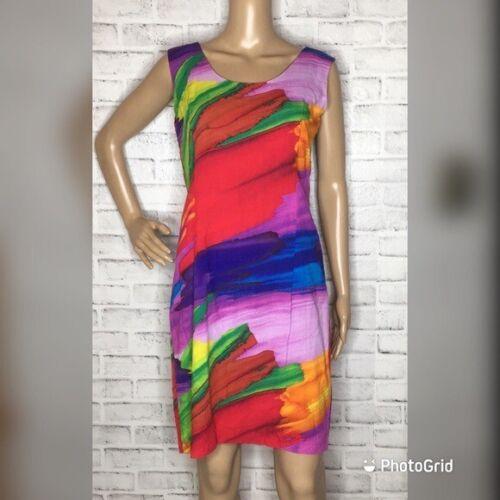Jams World Strokes abstract dress medium M