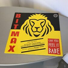 1992#VINTAGE SINGLE VINYL VINILE  BIT MAX REMIX RMX CAN YOU FEEL IT BABY