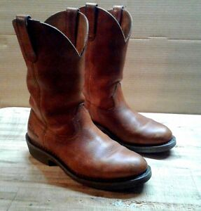 Details about Georgia Boots leather farm & ranch pull on work boot 8W Wellington retail $166