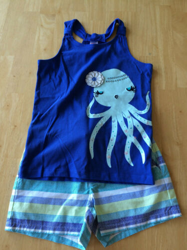 NWT Gymboree Tide Pool Octopus Tank Top Shirt Shorts SET SZ 8 Girls
