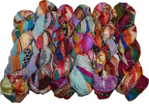 Sari Silk Ribbon craft chiffon ribbon yarn jewelry making Print