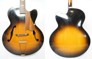 AS IS 50s MONTANO GUITAR NO.110 MIJ Archtop Acoustic Guitar FreeShipping