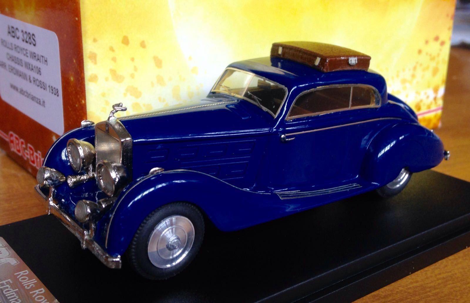 ABC Brianza 328 - ROLLS ROYCE WRAITH CHASSIS WXA106 ERDMANN & ROSSI 1938 1 43