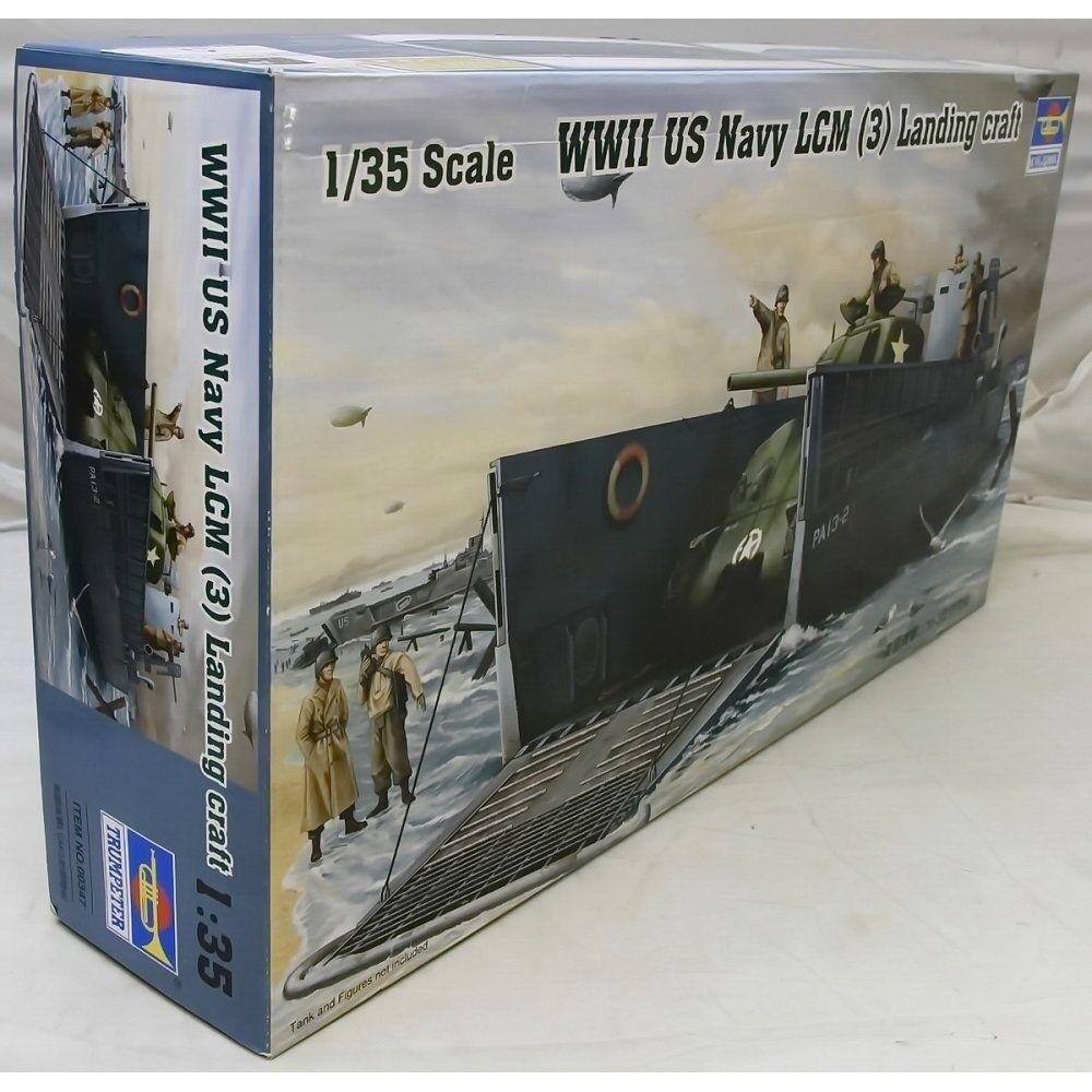 TRUMPETER 1 35 00347 - WWIIUS Navy LCM (3) Landing Craft Plastic Model Kit