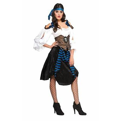 Ladies Rum Runner Pirate Costume Fancy Dress Womens Adults Halloween Outfit