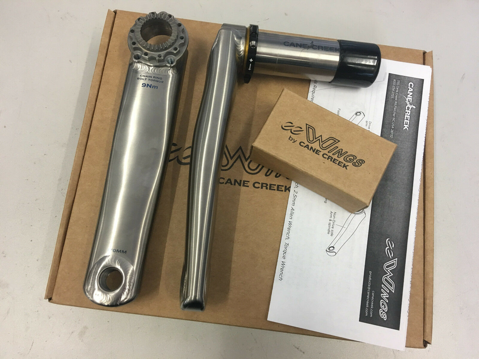 Cane  Creek eeWings 172.5mm 68x30 Axle All Road Titanium Cranks  BAI0046  factory direct and quick delivery