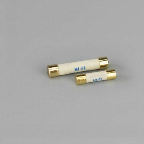 1pcs HIFI Silver Alloy Fuse Gold Cap 5x20mm//6X32mm 1A 15A