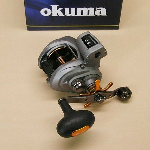 Okuma Cold Water Reel Low Profile Line Counter Model CW-354D Right Hand 5.4:1