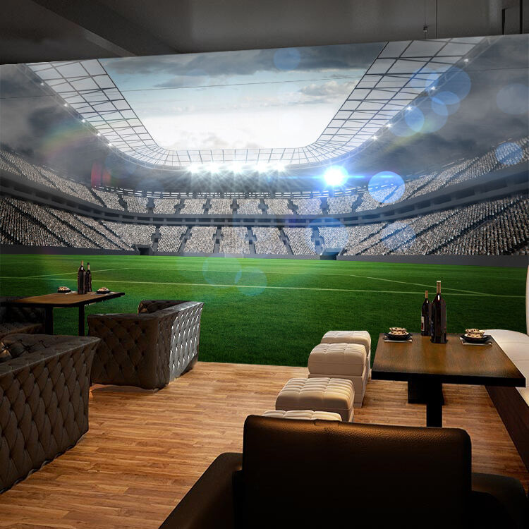 3D Football Field Lawn 835 Wallpaper Mural Paper Wall Print Wallpaper Murals UK