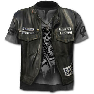 Fashion-Men-039-s-Funny-Skull-3D-Print-T-Shirts-Casual-Short-Sleeve-Tops-Tee-New