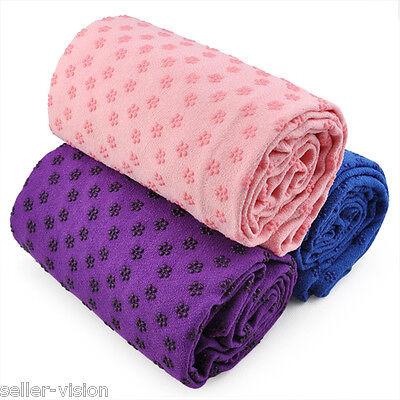 Sport Fitness Travel Exercise Yoga Mat Cover Towel Blanket Non-Slip Pilates