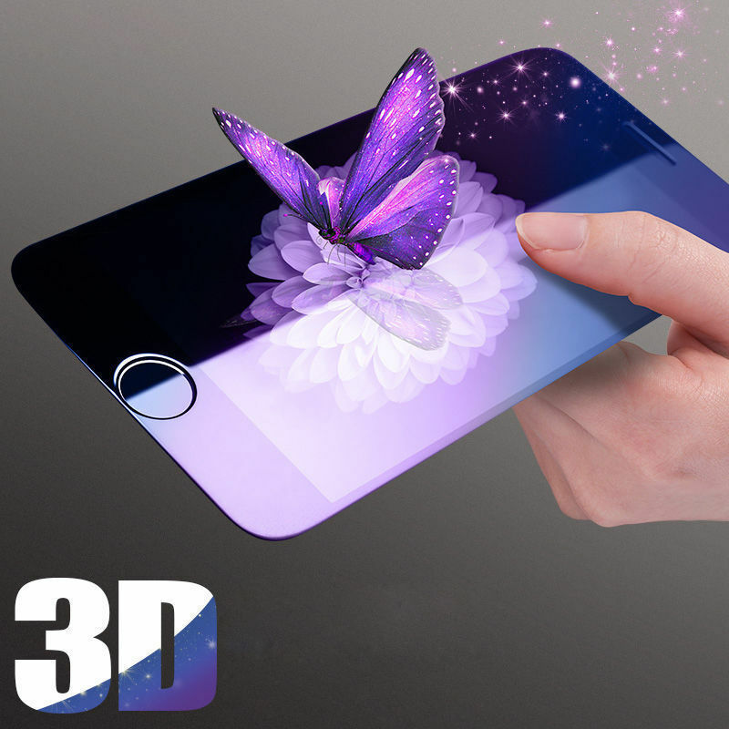 Купить 3D Full Coverage Blue Ray Tempered Glass Screen Protector For iPhone Universal