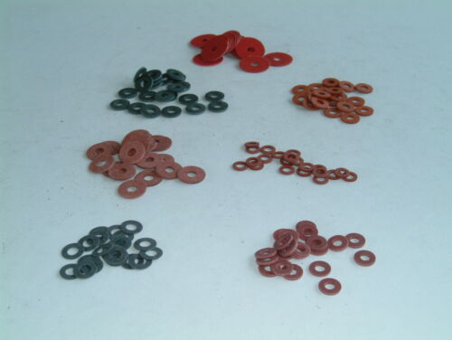 M3 Red Fibre Washers- Choose from 8 sizes, various quantities available