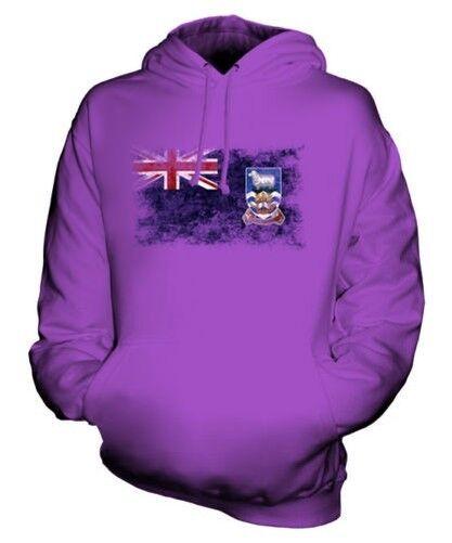 Falkland Islands Drapeau Délavé Sweat à Capuche Unisexe Îles Malouines Football