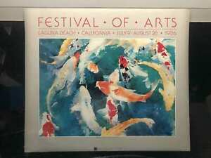 Vintage-Festival-Koi-of-Arts-Laguna-Beach-California-Julie-Watson-Poster