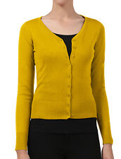 Womens XL BOYFRIEND Cardigan Sweater Gold Light Mustard Shade | eBay