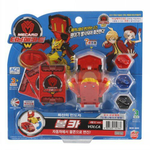 TURNING MECARD W VOLCA Transformer CAR Robot/Korean Animation Plastic Model Toy