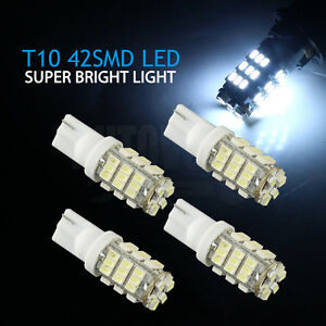 4x-T10-168-194-42-LED-White-Light-Wedge-Interior-Roof-Corner-Parking-Plate-Globe