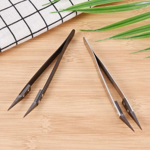 Ceramic Tipped Stainless Steel Tweezers Fine Pointed Tip Heat Resistant Tk ga