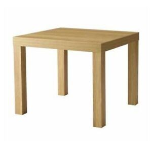 Ikea lack small coffee table kids table oak light wood for Light wood side table
