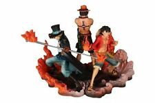 One Piece Anime Ace Sabo Luffy Action Figure Set 15cm Tall
