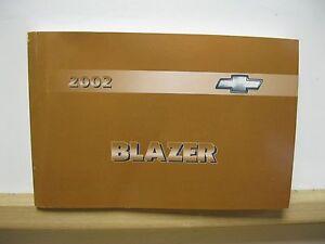 2002 chevrolet chevy blazer owners manual oem ebay rh ebay com sg 2002 chevy blazer service manual Chevy Trailblazer