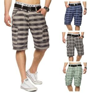 Hommes-Surfer-shorts-Shorts-ete-Bermuda-a-carreaux-Skater-5-couleurs
