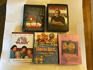 Mix Lot of 5 TV Show Series DVD South Park, Fraggle Rock, All In The Family More