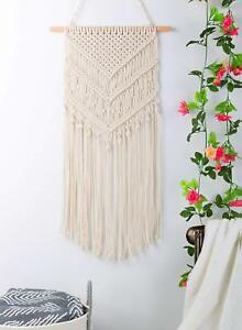 Details About Macrame Wall Hanging Handwoven Bohemian Cotton Rope Boho Tapestry Home Decor AU