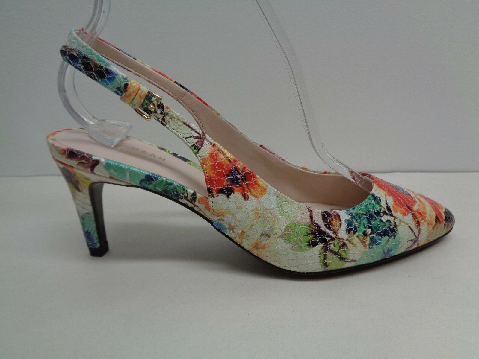 Cole Haan Size 6.5 MEDORA Floral Leather Sling Back Pumps Heels New Womens shoes