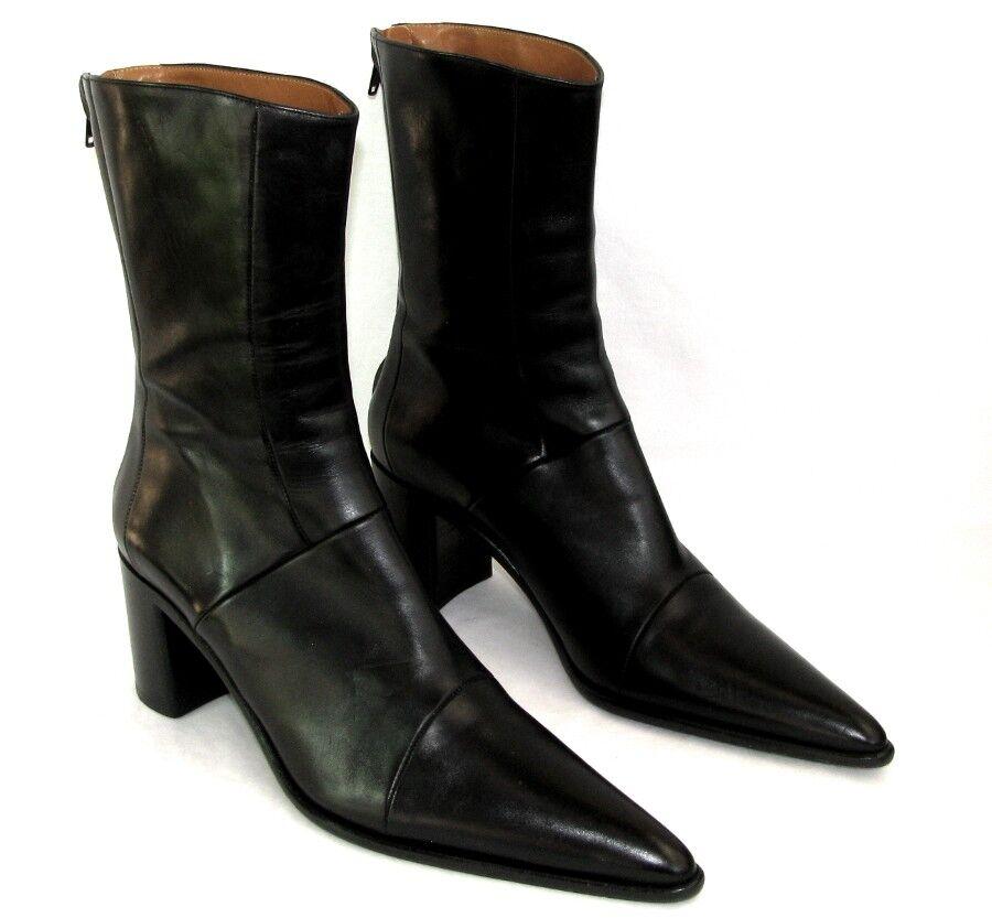 FREE LANCE - botas botas botas botines TPIY tacones 7.5 cm cuero negro 40.5 COMO NUEVO  barato y de alta calidad